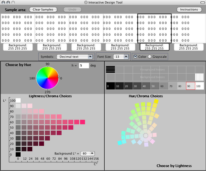 Color Tool Example: display prototyping